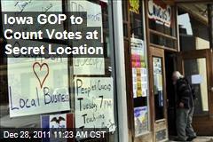 Iowa GOP to Count Caucus Votes at Secret Location