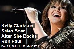 Kelly Clarkson Album Sales Spike After She Backs Ron Paul