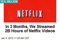 In 3 Months, We Streamed 2B Hours of Netflix Videos