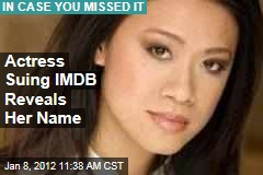 Actress Suing IMDB Reveals Name: Junie Hoang