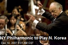 NY Philharmonic to Play N. Korea