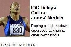 IOC Delays Call on Jones' Medals