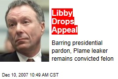 Libby Drops Appeal