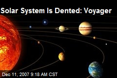 Solar System Is Dented: Voyager