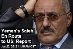 Ali Abdullah Saleh Leaves Yemen for Medical Treatment in US