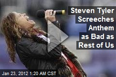 Steven Tyler Screeches Anthem as Bad as Rest of Us