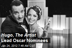 Hugo , The Artist Lead Oscar Nominees