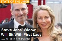 Steve Jobs' Widow Will Sit With First Lady