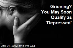 Grief May Be Included in Definition of Depression