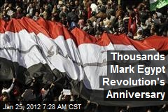 Thousands Mark Egypt Revolution's Anniversary