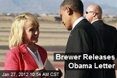 Brewer Releases Obama Letter