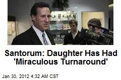 Santorum Daughter Recovering From Pneumonia