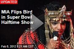 MIA Flips Bird in Super Bowl Halftime Show