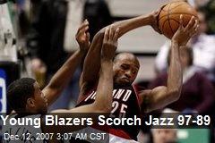 Young Blazers Scorch Jazz 97-89