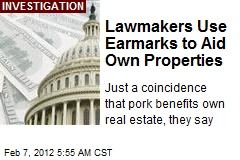 Lawmakers Use Earmarks to Aid Own Properties