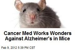 Cancer Med Works Wonders Against Alzheimer's in Mice