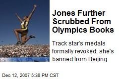 Jones Further Scrubbed From Olympics Books