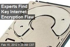 Experts Find Key Internet Encryption Flaw