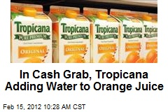 In Cash Grab, Tropicana Adding Water to Orange Juice