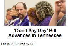 'Don't Say Gay' Bill Advances in Tennessee