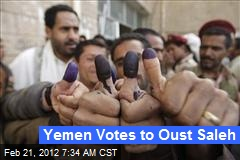 Yemen Votes to Oust Saleh