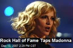 Rock Hall of Fame Taps Madonna