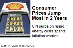 Consumer Prices Jump Most in 2 Years