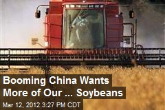 Booming China Wants More of Our ... Soybeans