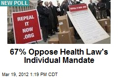 67% Oppose Health Law's Individual Mandate