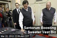 Santorum Boosting Sweater Vest Biz