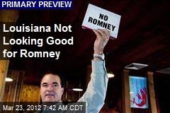 Louisiana Not Looking Good for Romney