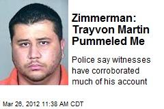 Zimmerman: Trayvon Martin Pummeled Me
