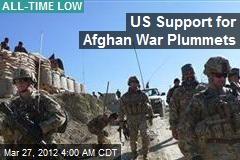 US Support for Afghan War Plummets