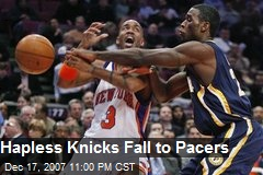 Hapless Knicks Fall to Pacers