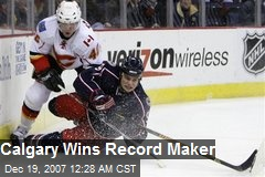 Calgary Wins Record Maker