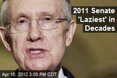 2011 Senate 'Laziest' in Decades