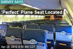 'Perfect' Plane Seat Located