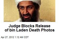 Judge Blocks Release of bin Laden Death Photos