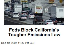 Feds Block California's Tougher Emissions Law