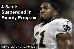 4 Saints Suspended in Bounty Program