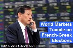 Markets, Euro Tumble On European Election Results