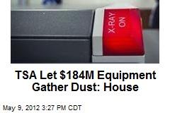 TSA Let $184M Equipment Gather Dust: House