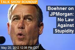 Boehner on JPMorgan: No Law Against Stupidity