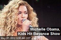 Michelle Obama, Kids Hit Beyonce Show