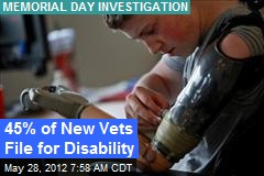 45% of New Vets File for Disability