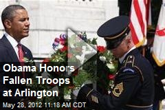 Obama Honors Fallen Troops at Arlington