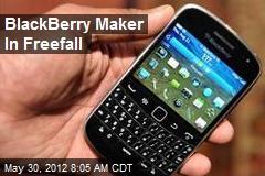 BlackBerry Maker In Freefall