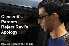 Clementi's Parents Reject Ravi's Apology