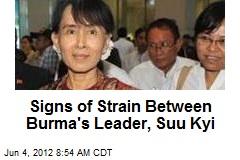 Signs of Strain Between Burma's Leader, Suu Kyi