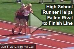 High School Runner Helps Fallen Rival to Finish Line